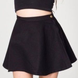 Black American Apparel Denim Circle Skirt - Large